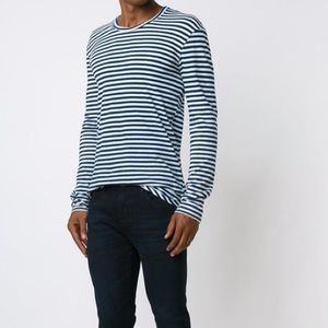 AG jeans stripe long sleeve top large